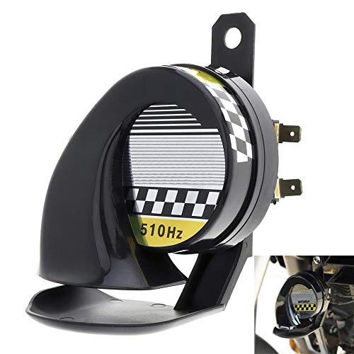 TechCode Trumpet Horn, Waterproof Loud Air Snail Siren 130dB 510hz Universal 12V Truck Motorcycle Car Universal for Motorcycle Auto Car Scooter