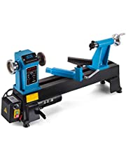 Mophorn Wood Lathe 12 x 18 Inch, Bench Top Heavy Duty Wood Lathe Variable Speed 500-3800 RPM, Mini Wood Lathe Regulation Digital Display, for Use in Workshops Engineering