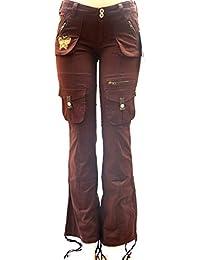 Blue Pointe Jeans Juniors Womens Stretch Premium Brown Cargo Pants 3054ES