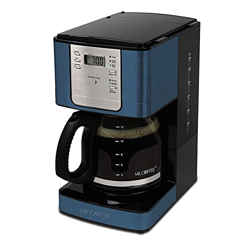 Mr. Coffee JWX36-MB Advanced Brew 12 Cup Programmable Coffee Maker, Blue Opal eBay