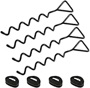Hawsam 4Sets Heavy Duty Trampoline Anchor Ground Pegs Tie Down Kit - Galvanized Steel Rust-Proof Stakes Fit Tr