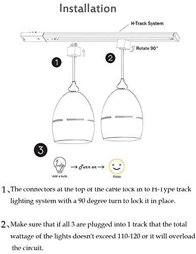 Kiven Halo Track Pendant Lighting Nordic Macaron Aluminum Track Mount Pendant Fixture Kitchen Island Lighting Ceiling Pendant Lighting, 3-Pack by Kiven (Image #6)