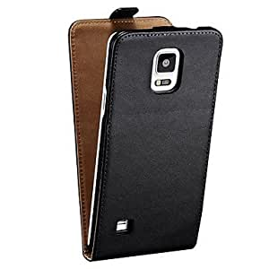 Genuine Leather Flip Case for Samsung Galaxy NOTE 4 (Assorted Colors) ( Color : Marrón )