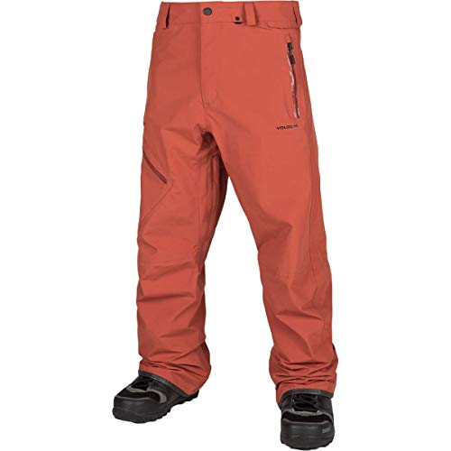 Volcom Men's L Gore-Tex 2 Layer Laminate Snow Pant, Burnt Or