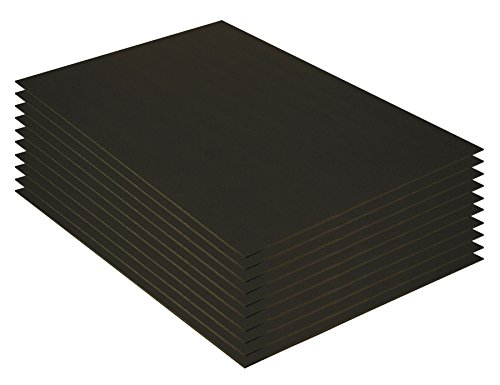 Pacon Value Foam Boards, 20 x 30 Inches, Black on Black, 10 Sheets (30