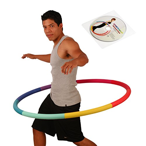 Weight Loss Sports Hoop Series: Trim Hoop 3B - 3.1lb (41 inches wide) Large, Weighted Fitness Exercise Hula Hoop with No Wavy Ridges (46 minutes Workout and Lesson DVD - Hoop Fitness Hula