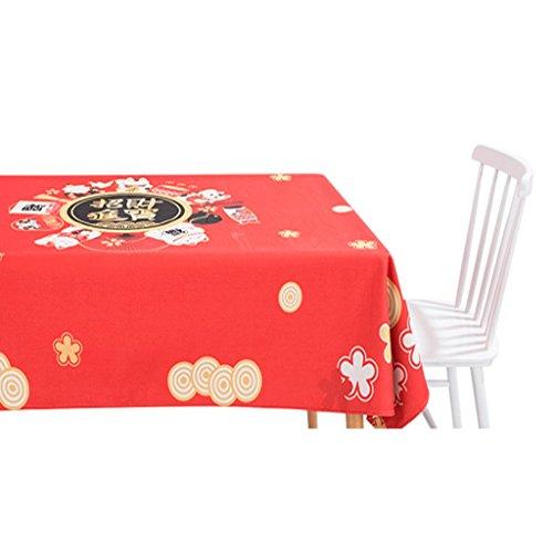 A 220140CM Chanceux chat coton lin linge de table coton petit bureau propre nappe rectangulaire table basse tissu (Couleur   A, taille   220140CM)