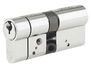 Yale Locks AS5050BN - Bombín de seguridad antiforzamiento (50 cm/50 cm), color níquel satinado [Importado de Reino Unido]