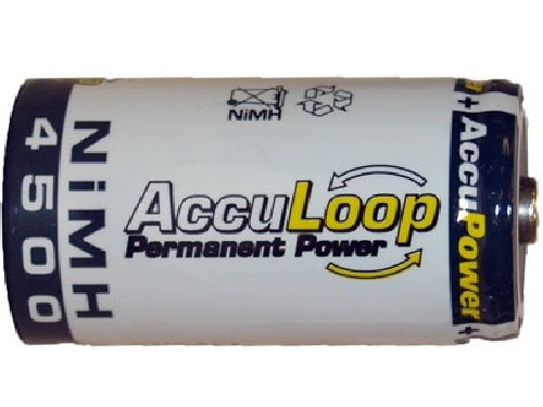 8 x C NiMH AccuPower AccuLoop Batteries (4500 mAh)