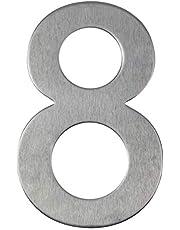Huisnummer van roestvrij staal zelfklevend - lengte 10 cm - straatnummer - deurnummer ontwerp (8)