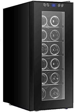 JJSFJH 12 Botella de Vino termoeléctrico de Refrigeración/Chiller |Mostrador Rojo y Blanco Bodega |Autosoportados Frigorífico, Funcionamiento silencioso Nevera