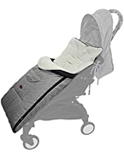 Universal Baby Toddler Stroller Sleeping Bag Footmuff, Bunting Bag to Protect Baby from Cold and Winter Weather in Strollers, Waterproof, Grey, 0-5 Years Boys and Girls