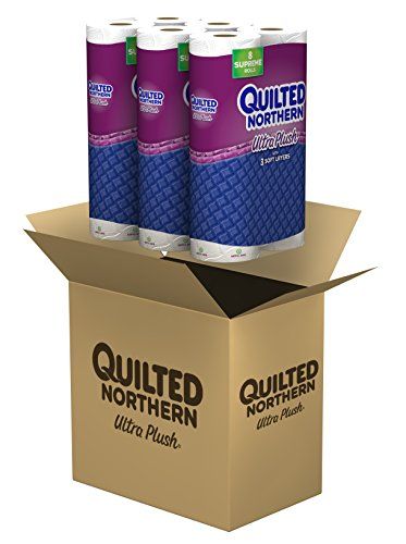 Quilted Northern Ultra Plush Toilet Paper, 24 Supreme (92+ Regular) Bath Tissue Rolls>