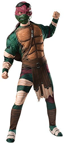 [Rubie's Costume Men's Teenage Mutant Ninja Turtles Movie Deluxe Adult Muscle Chest Raphael, Multicolor,] (Ninja Costume Man)