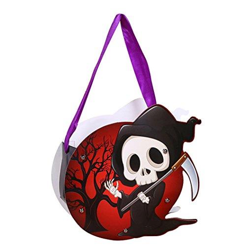 Taiguang DIY Handmade Halloween Pumpkin Smile Bag Child Kids Candy Bag Handbag Holiday Party Decor ()