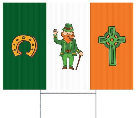 CGSignLab |St. Patrick's Day Flag I Double-Sided Corrugated