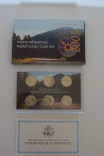 - 2005 U. S. Mint Westward Journey Nickel Series Coin Set in Original Box with COA