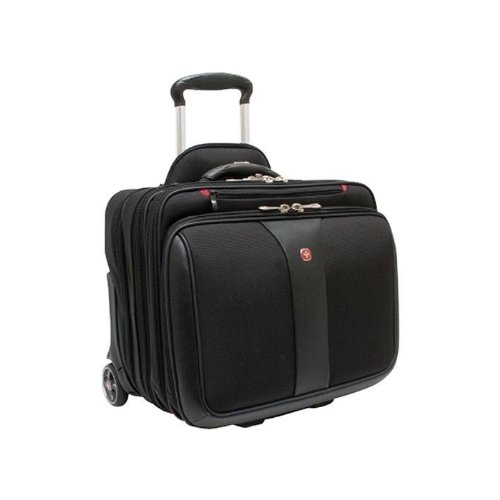 Wenger Patriot Rolling 2 Piece Business Set, Black, One Size, Bags Central