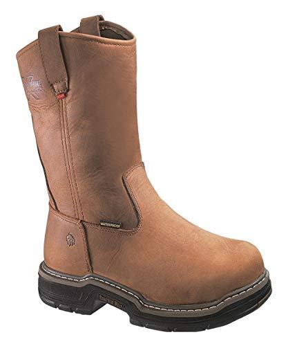 Wolverine W02166 10 M Marauder Waterproof Wellington Work Boot, Capacity, Volume, Leather, 10 Medium, Brown