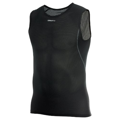Craft Cool Mens Mesh Superlight Sleeveless Sports Base Layer (L) (Black) (Cool Mesh Sleeveless)