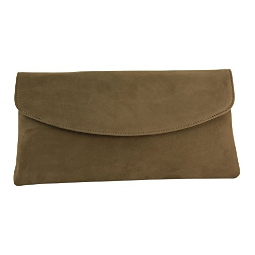 Clutch Bag Winema Taupe Suede