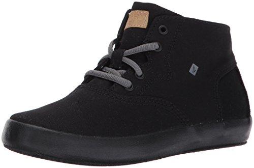 Sperry Top-Sider Kids' Wahoo Mid Sneaker,Black/Black,13.5 Medium US Little Kid