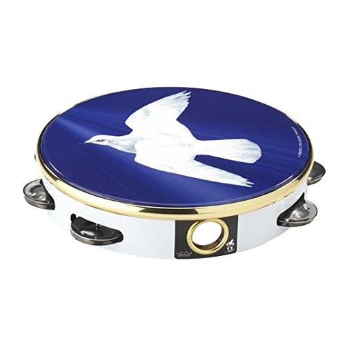 Remo TA-9108-18 Praise Tambourine - Religious Dove, -