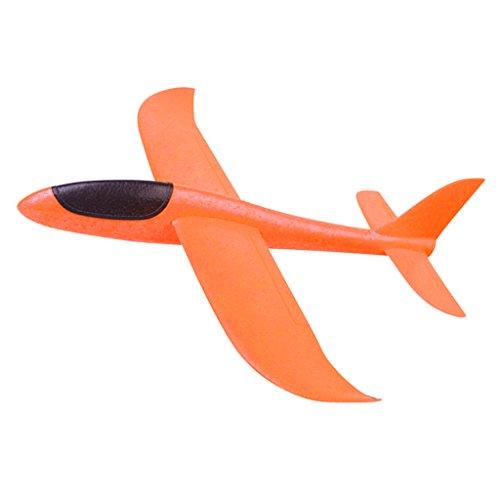 Perfk 屋外/アウトドア 高品質 ランチャー 飛行機 グライダーモデル 発泡飛行機模型 全2カラー ラージ - オレンジの商品画像