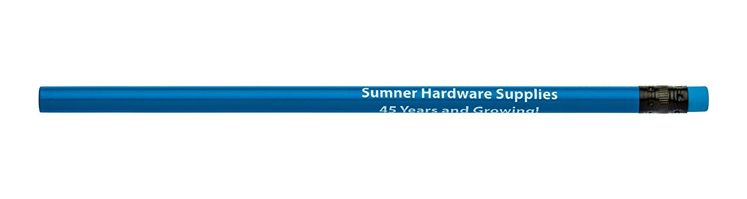 Pencil Guy Promotional Personalized Imprinted Neon Round Pencils- 1000 per Box Blue by Pencil Guy (Image #1)