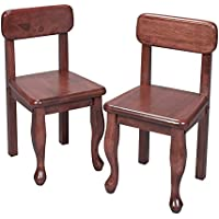 Gift Mark Queen Anne Childrens Chair Set, Cherry