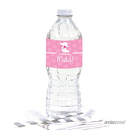 Andaz Press Birthday Water Bottle Labels Stickers, Cowgirl Boots, 20-Pack, For Decor Decorations Dessert Table - Www Com Boots