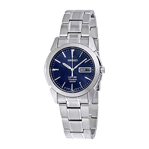 Seiko Men's SGG729 Titanium Bracelet Watch (Seiko Titanium Day Date)