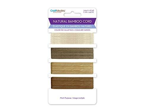- CraftMedley CC820D Natural Bamboo Cord (1mm) 16yds, 16 yd