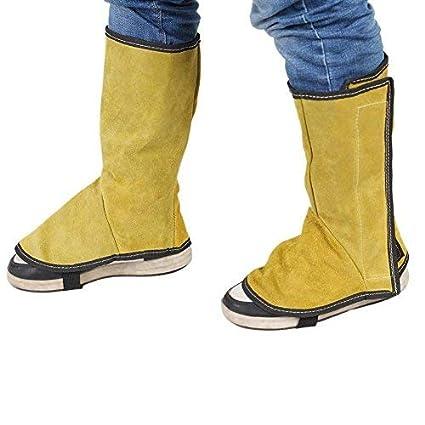 Broadroot 2pcs de soldadura de protección de cuero de la cubierta del pie de la ropa
