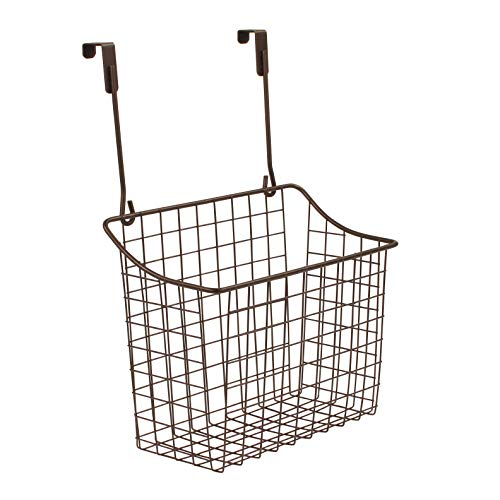 Spectrum Diversified Over The Cabinet Grid Storage Basket, Large, Bronze (Kitchen Baskets For Wicker Hanging)