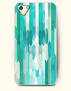 SevenArc Phone Skin Apple iPhone case for iPhone 5 5s ( 5C EXCLUDED ) -- Teal and Turquoise Geometric Pattern