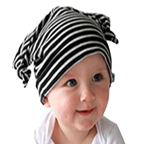Euone Kid Toddler Long Ears Turtleneck Cap Horn Knotted Baby Hat Beanie Infant Cap (Black) (Jeweled Ear Warmer)