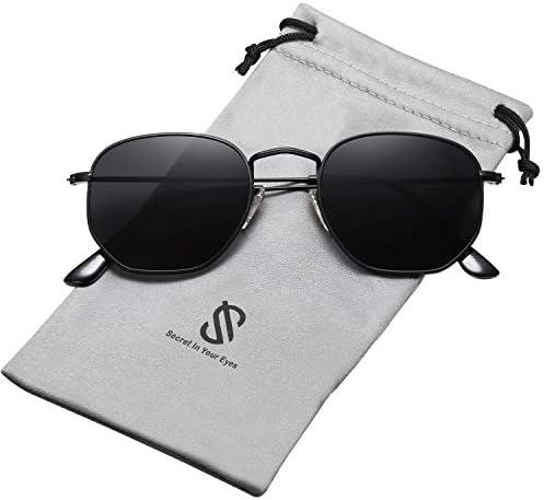 SOJOS Polarized Sunglasses Polygon Mirrored product image