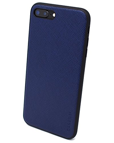- iPhone 8 Plus (OX series) (Navy Blue) Slim Protective Corner Cushion Leather Design for Apple iPhone 8 Plus (2018) CASEOX