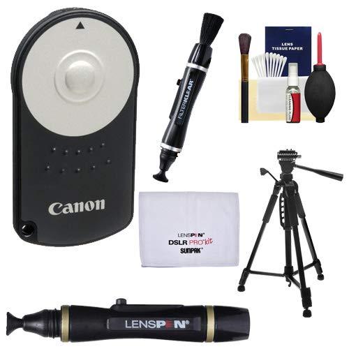 (Canon RC-6 Wireless Remote Shutter Release Controller + Tripod + Kit for Rebel SL1, T5i, T6i, T6s, T7i, EOS 70D, 77D, 80D, 6D, 7D, 5D Mark III, IV)