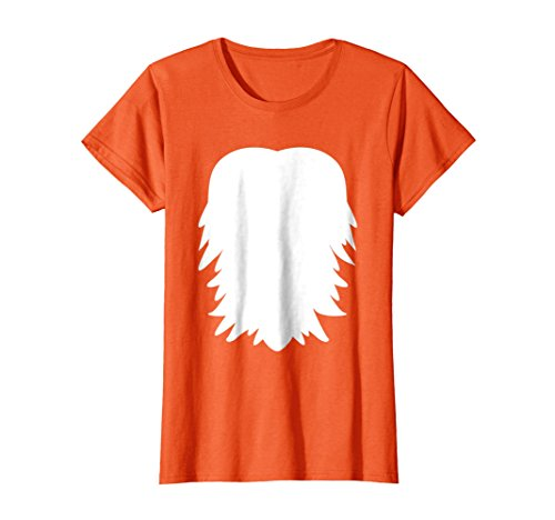 Womens Animal Belly Halloween Tshirt - Bear, Fox, Wolf, Lion Medium Orange