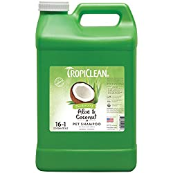TropiClean Aloe & Coconut Deodorizing Pet Shampoo, 2.5 Gallon
