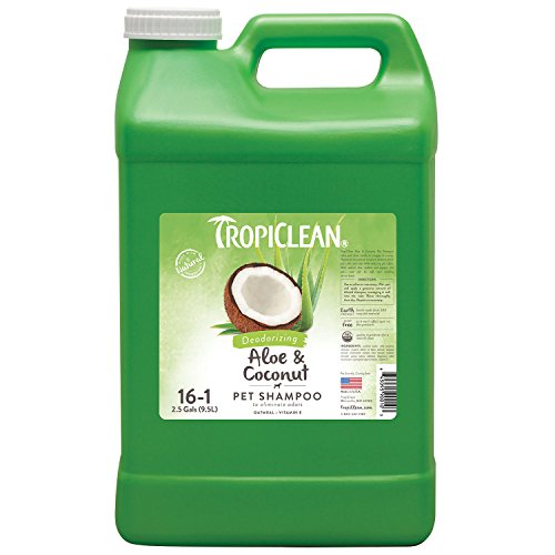 TropiClean Aloe & Coconut Deodorizing Pet Shampoo, 2.5 Gallon by Tropiclean