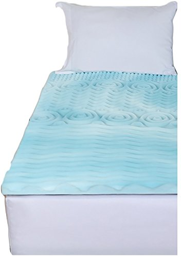 Gilbin Memory Foam Mattress Topper Cot Or Twin Size Fits Camp Cots perfect for kid's sleepaway camp and also fits RV beds by Gilbin (Image #2)