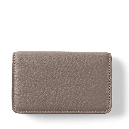Business Card Case - Full Grain Leather Leather - Taupe (Beige)