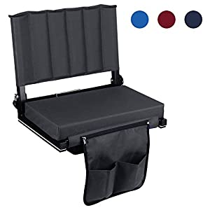 Leader Accessories Wide Padded Folding Stadium Chair/Stadium Seat for Bleacher by Leader Accessories