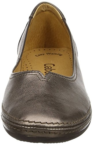 Women's Gabor Ballet Change Metallic Leather Flats Silver qCff5w