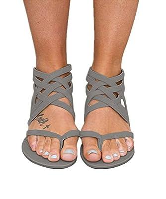 Huiyuzhi Womens Flip Flop Gladiator Flat Sandal Fisherman Sandal (Buy One Size Down)