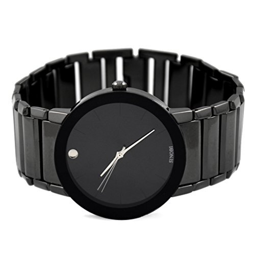 VIGOROSO-Mens-Fashion-Casual-Popular-Dress-Stainless-Steel-All-Black-Wrist-Watch