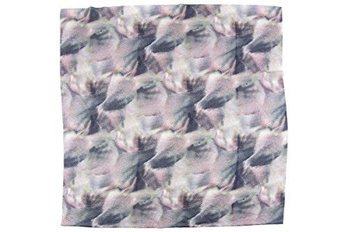 Lancioni 1973, foulard carré mixte soie avec imprimée abstrait